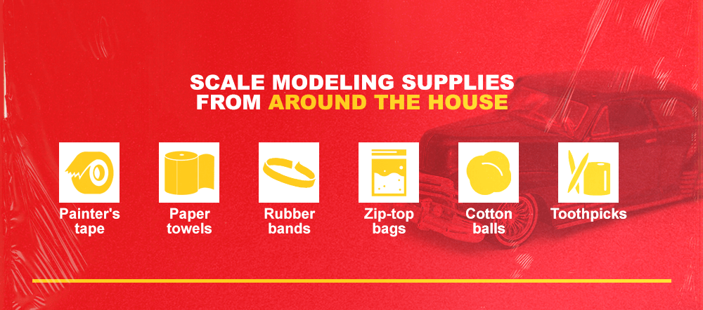 Scale Modeling Supplies From Around the House