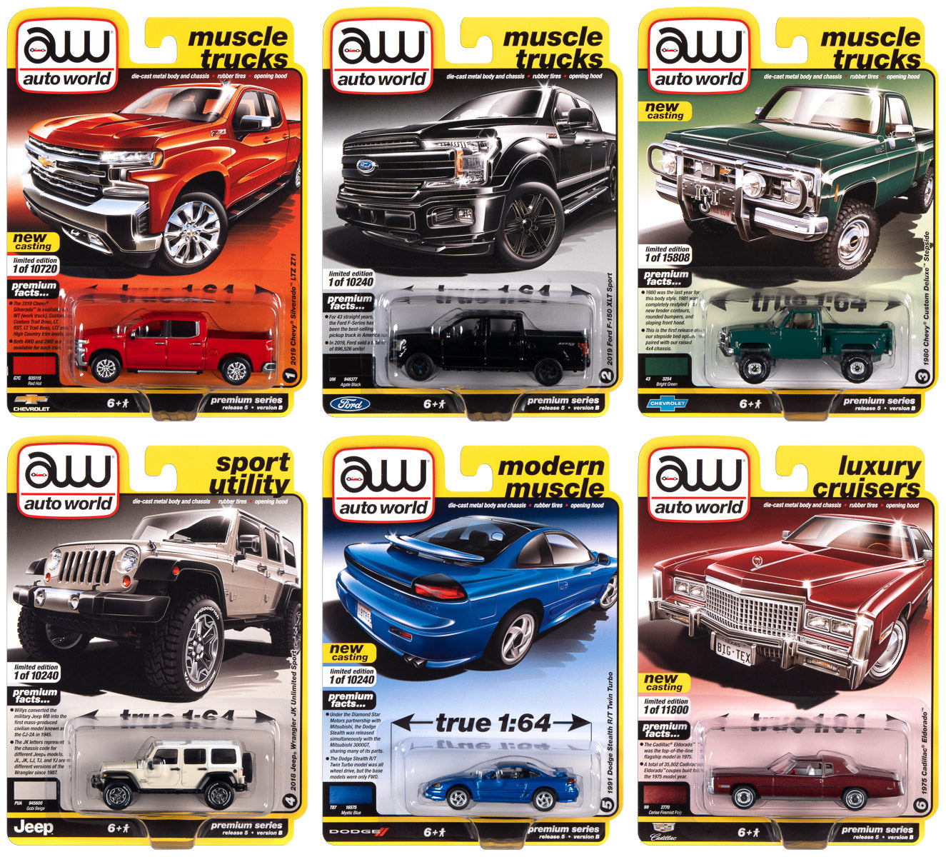 NEW Auto World RR Tire Pair 6 Pack HO Scale FREE US SHIP