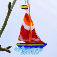 Stripy Sailboat
