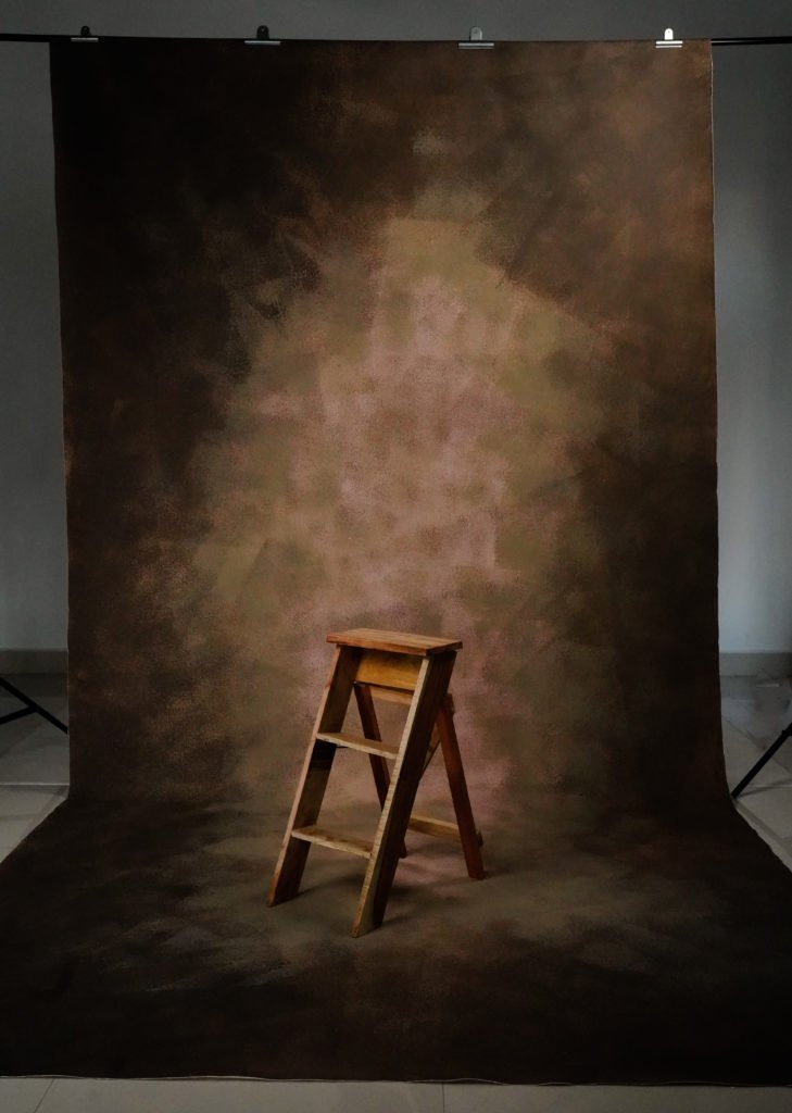 Rentals - 24 Hours Rental Hand Painted - Rust - Painted Baby Backdrops - 6 by 12 Feet