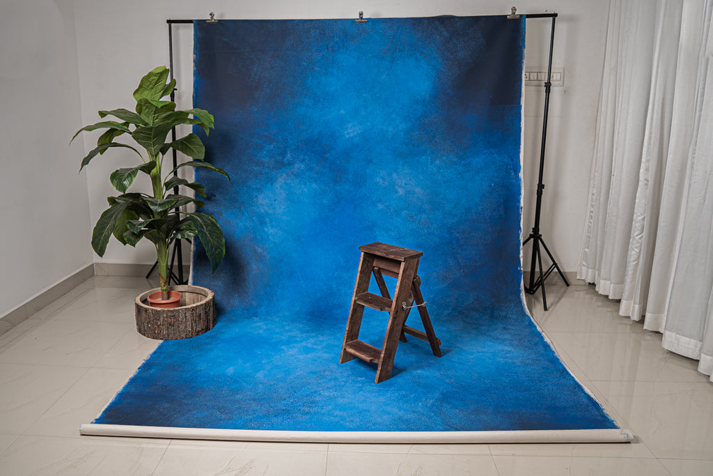 Rentals - 24 Hours Rental Hand Painted - Royal Blue - Painted Baby Backdrops - 7 by 12 Feet