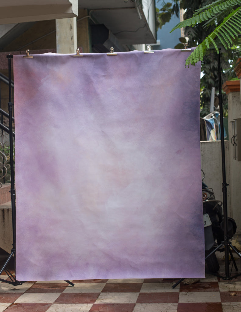 Rentals - 24 Hours Rental Hand Painted - Lilac Canvas - Painted Baby Backdrops - 5 by 6 Feet
