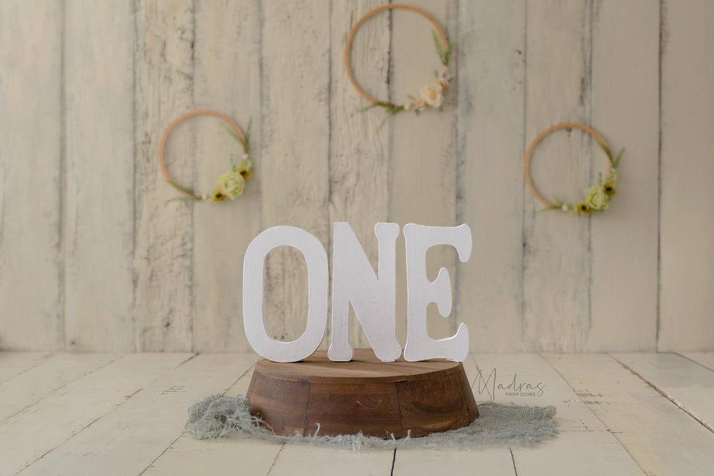 Rentals - Wooden Letter - ONE