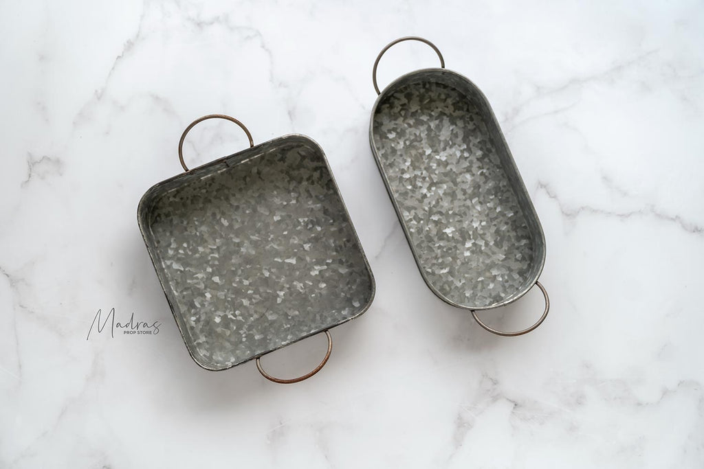 Rentals - Set Of Two Metal Trays