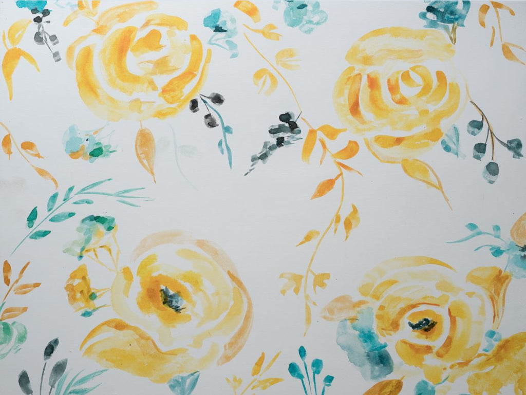 Rentals - Yellow Roses - Printed Baby Backdrops - 5 by 4 feet