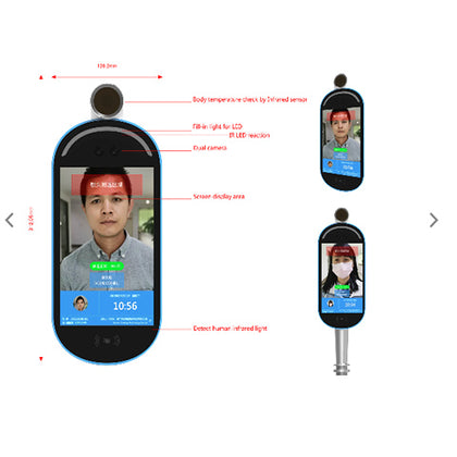 Face Recognition and Temperature Detection IR Scanner