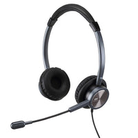 USB Headset with Microphone Noise Cancelling& Audio Controls Ultra Comfort Computer Headset for Business Skype UC Webinar Call Center Office-Stereo