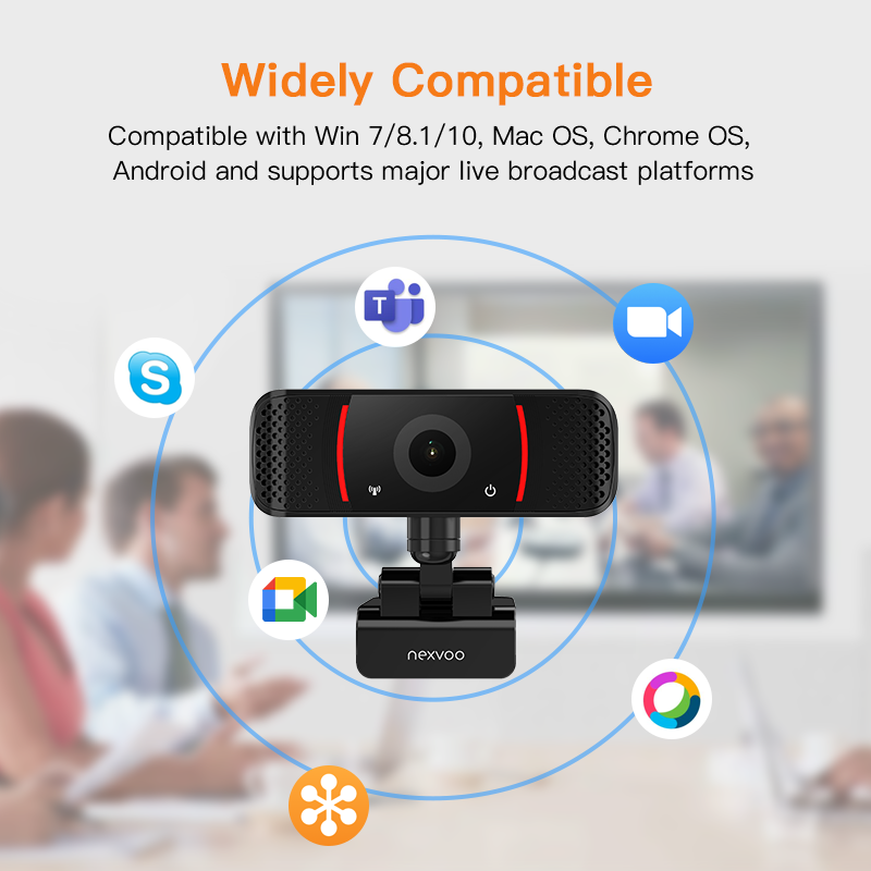 1080P USB Video Webcam ,Full HD Webcam with Microphone ,Video Conference Camera for Computer/PC/Laptop/Notebook