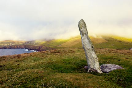 Ogham standing stone Dingle Peninsula Ireland
