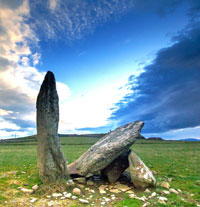 The ancient Ogham stones at the Dingle Peninsula