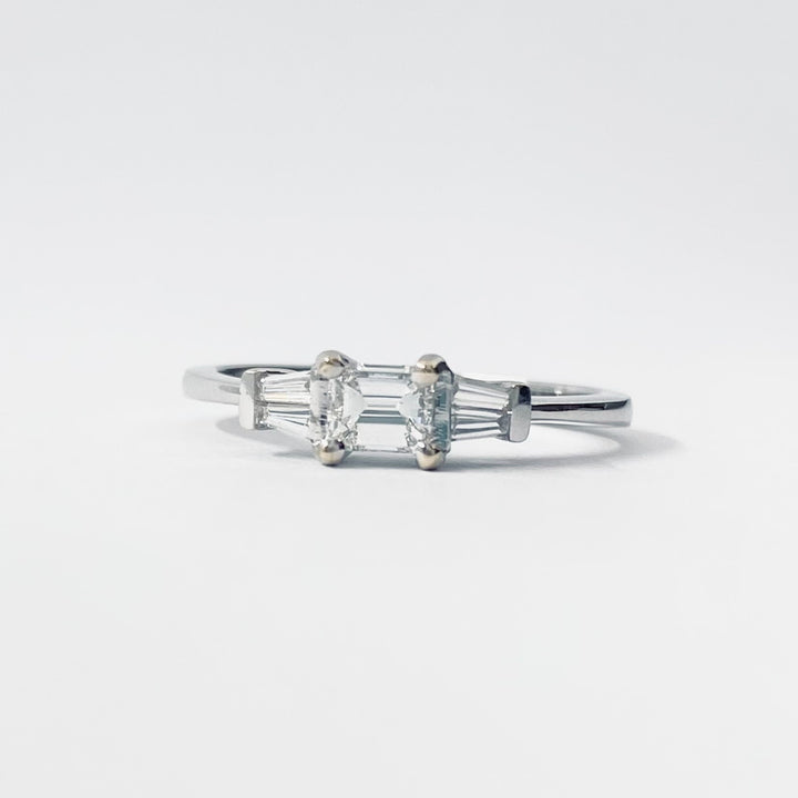 Three Stone Baguette Ring