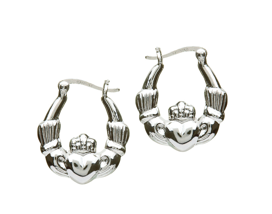 Hoop Claddagh Hoop Earrings