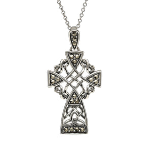 Marcasite Celtic Cross