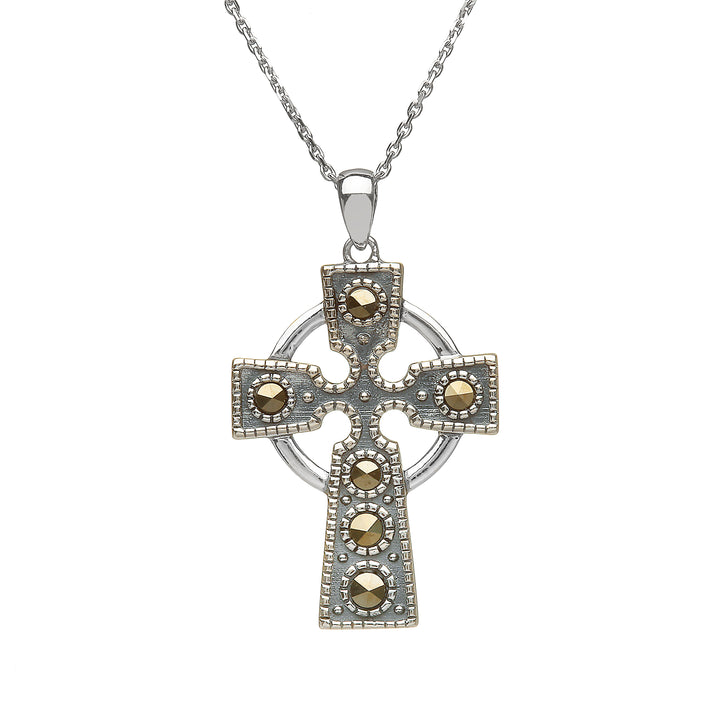 Marcasite Celtic Cross Pendant