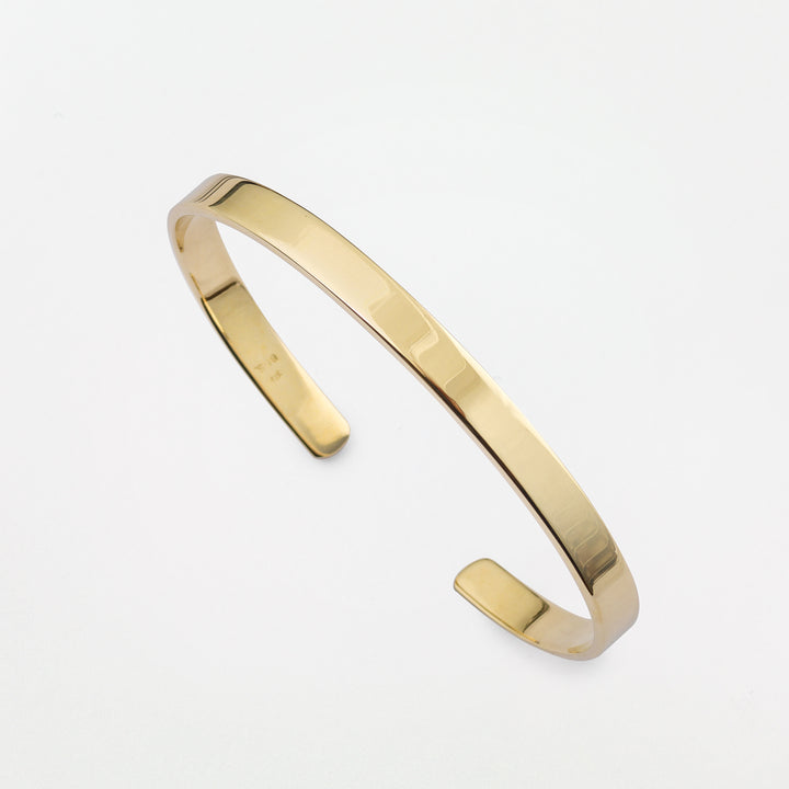 Ogham Bangle - Gold