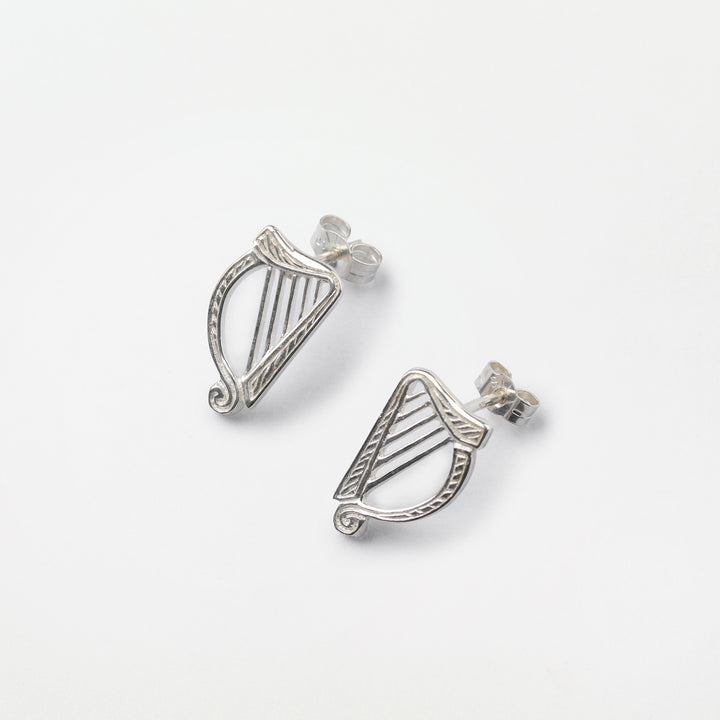 Harp Stud Earrings