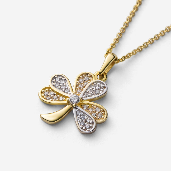 Shamrock with Pavé Set Stones