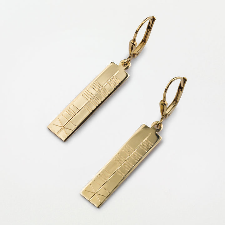 Ogham Gold Earrings