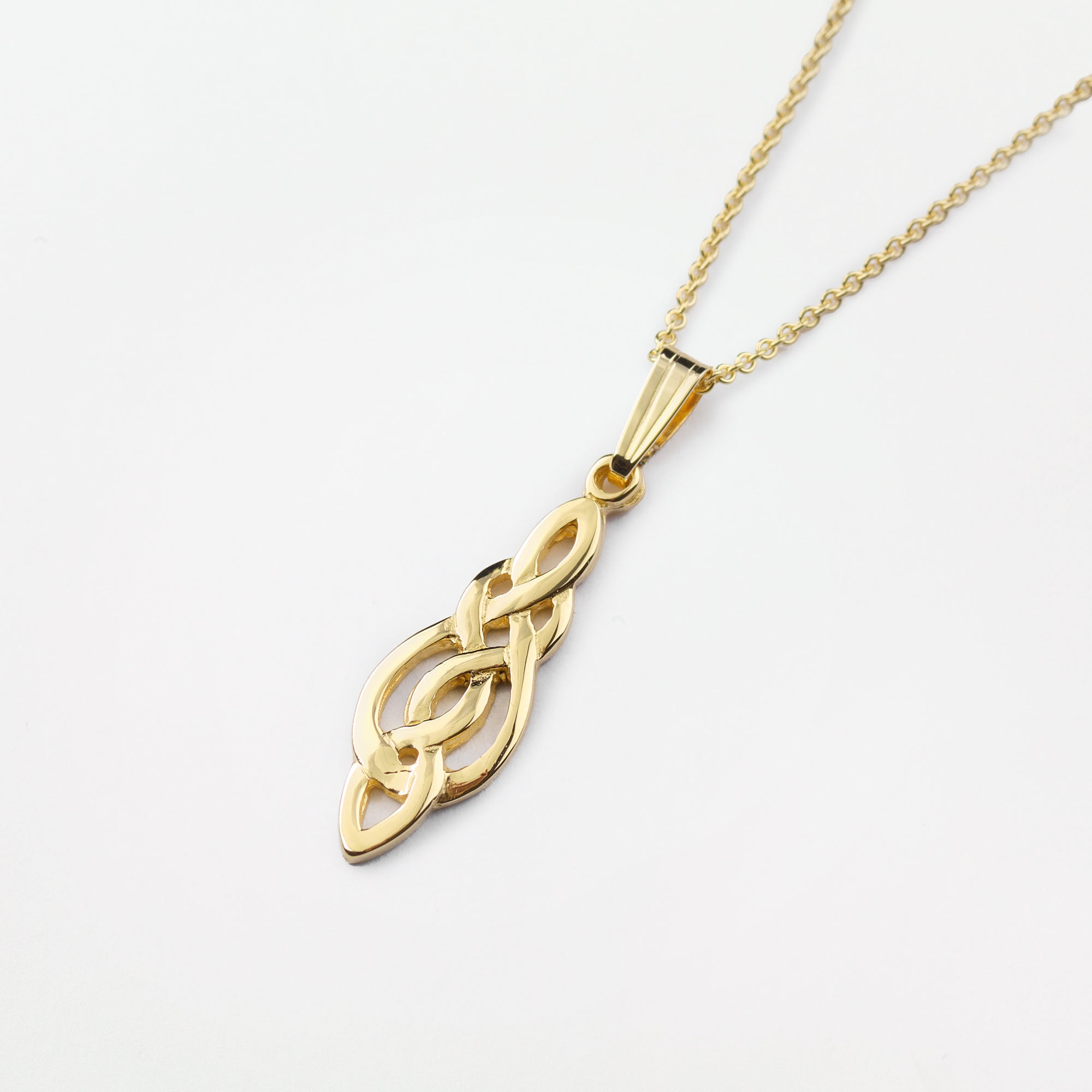 gold pendant colour knot three