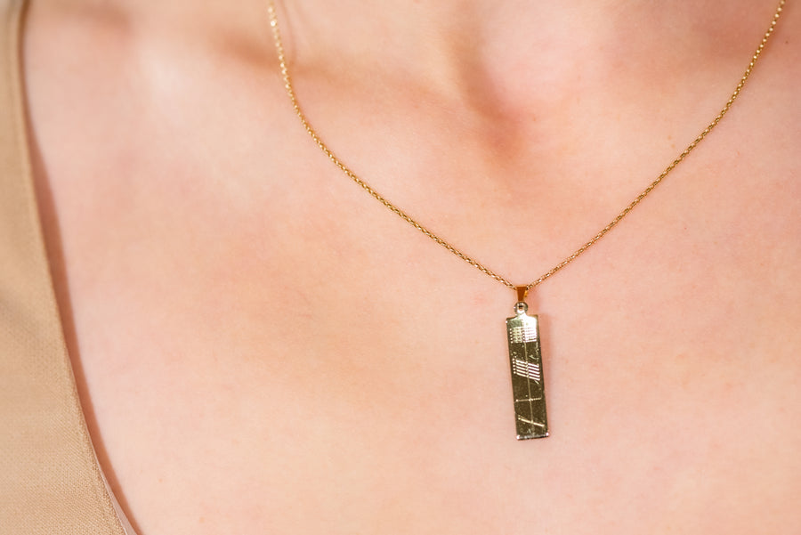 Ogham Gold Pendant - Small