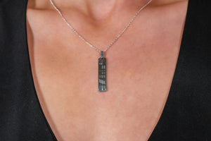 Silver Ogham Pendant - Medium
