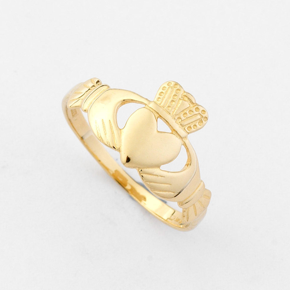 Claddagh Engagement Ring - Gold Claddagh Ring