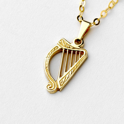 Harp Pendant - Brian de Staic Celtic/Irish Jewelry