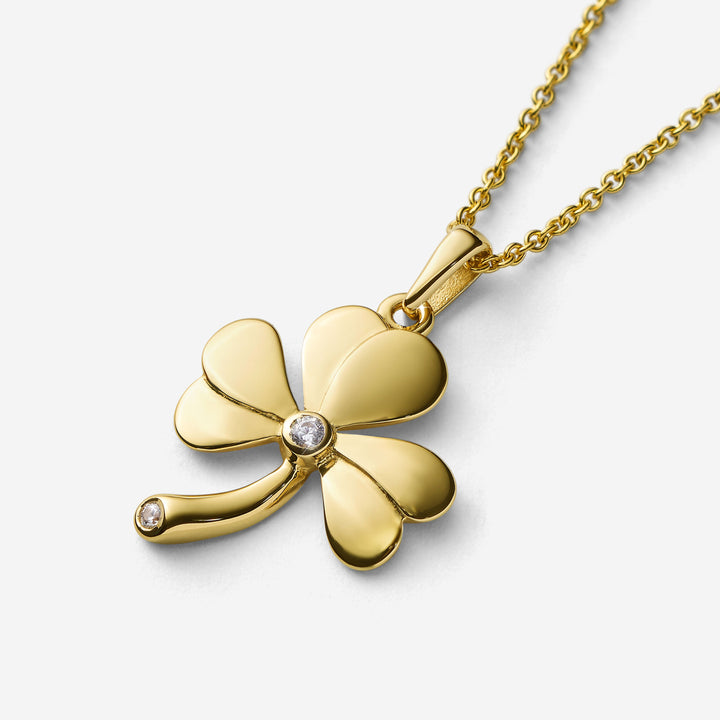Shamrock Pendant with Centre Stone