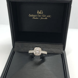 Palladium Diamond Ring .30ct