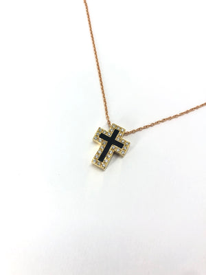 Cill Mhaoilchéadair Cross - 18 Karat Yellow Gold Cross with  Diamonds .9 ct