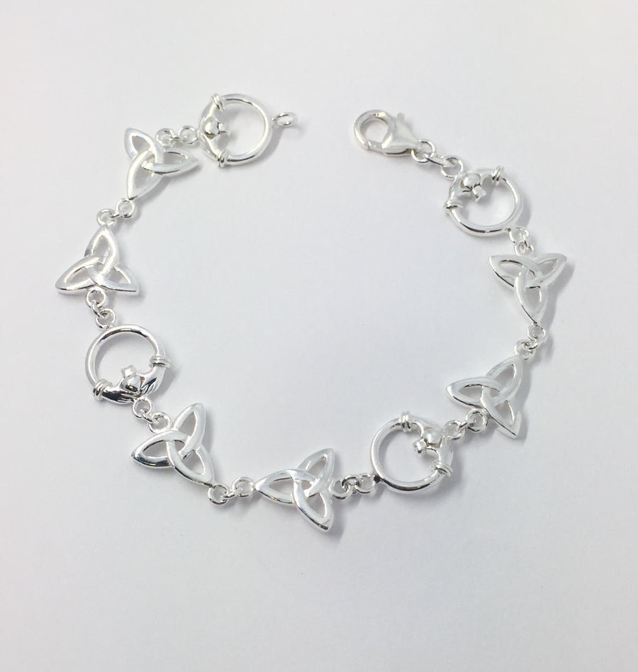 Trinity and Claddagh Bracelet