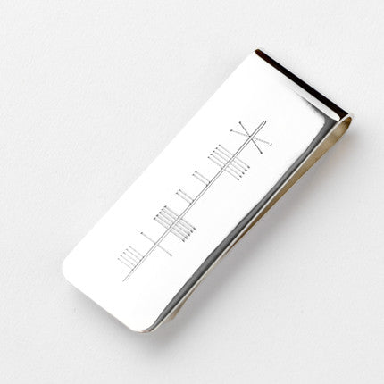 Ogham Money Clip - Brian de Staic Celtic/Irish Jewelry