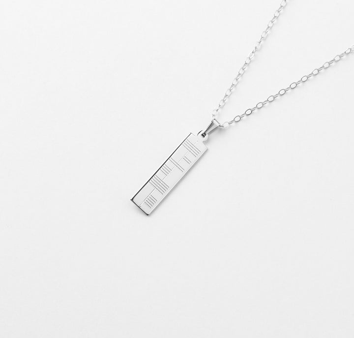 Silver Ogham Pendant - Small