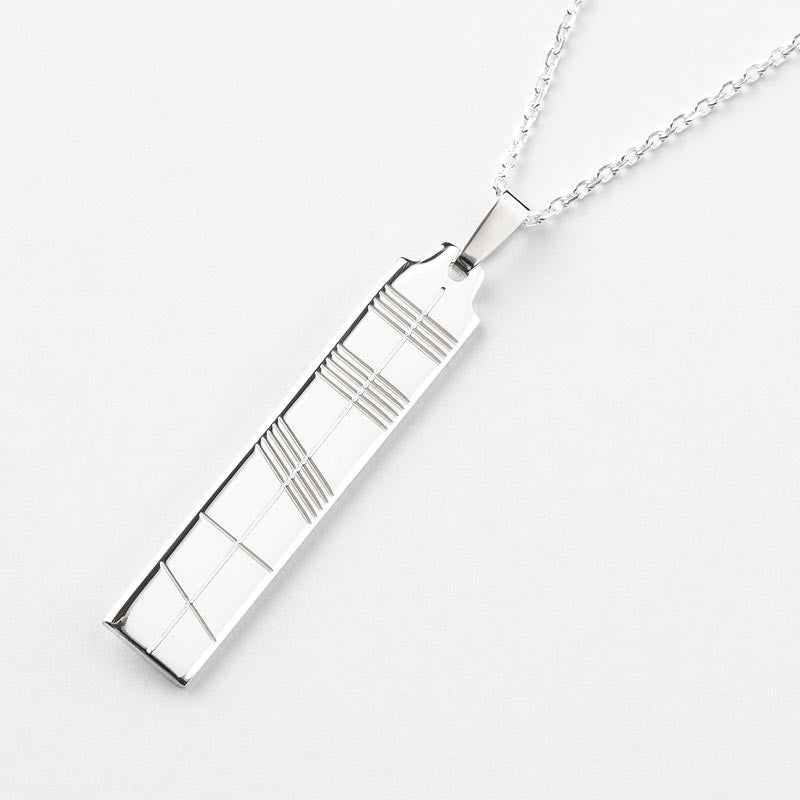 Ogham Silver Pendant - Large - Brian de Staic Celtic/Irish Jewelry