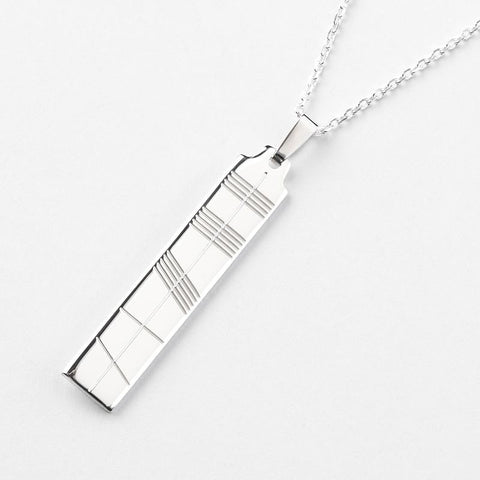Irish Jewelry - Silver Ogham Necklace