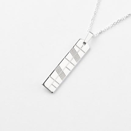 Ogham Silver Pendant - Medium - Brian de Staic Celtic/Irish Jewelry