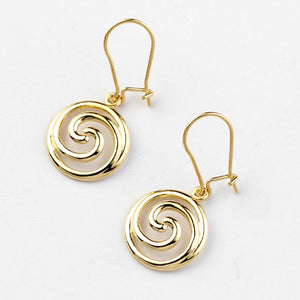Spiral Drop Earrings - Brian de Staic Celtic/Irish Jewelry
