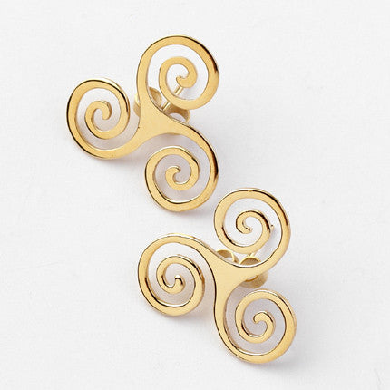 Triskel Stud Earrings - Brian de Staic Celtic/Irish Jewelry
