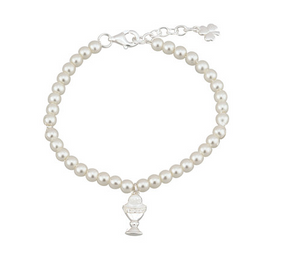 Silver Holy Communion Bracelet