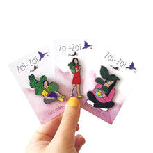 Load image into Gallery viewer, Crazy Plant Ladies - Pins Set - Zoi-Zoi