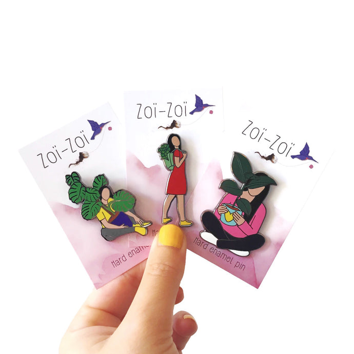 Crazy Plant Ladies - Pins Set - Zoi-Zoi