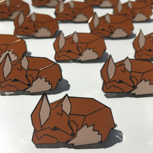 Load image into Gallery viewer, Origami Fox Pin - Zoi-Zoi