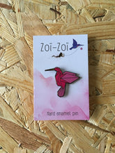 Load image into Gallery viewer, Origami Hummingbird Pin - Zoi-Zoi