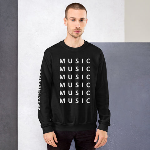 MUSIC Unisex Sweatshirt Black