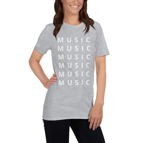 MUSIC Unisex T-Shirt Marle Grey