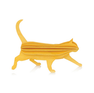 Gato amarillo madera Do it yourself