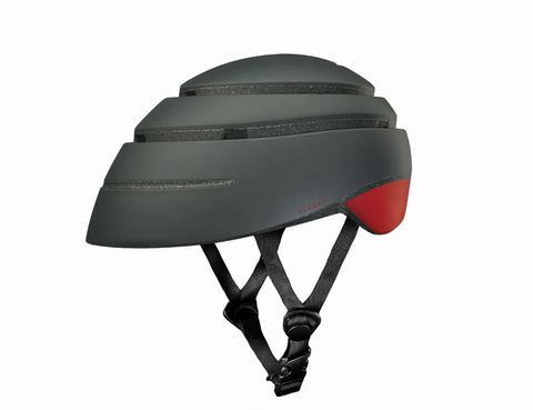 Casco plegable de bicicleta Loop graphite/wine L
