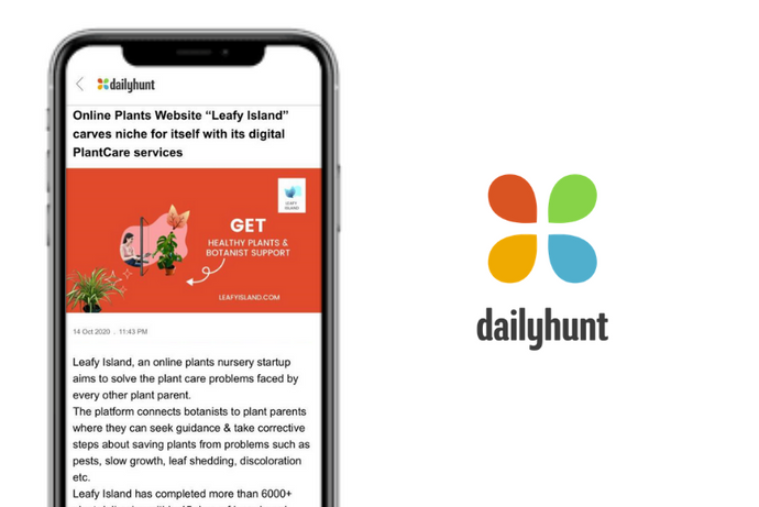 "Dailyhunt: Online Plants Website ""Leafy Island"" carves niche for itself with its digital PlantCare services"