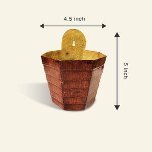 Wall Mounted Planter - Wooden Finish - Premium Fiberglass Pot