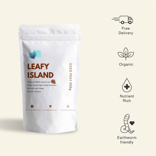 Organic Coco Peat 900g - Soil Essentials for Healthy Roots - Leafy Island